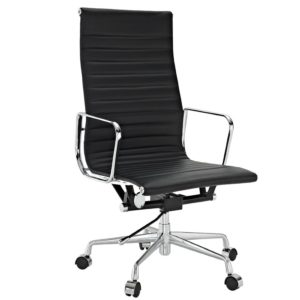 CE Office Chair - TY-202A - High Back - Black Leather